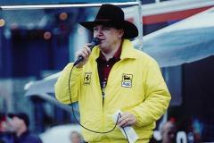 Tobermory's line dancing President - Paul Tattersall at the Saturday Afternoon Restart