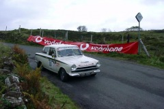 Lotus Cortina course car coming over Mishnish Lochs on Saturday afternoon - Car 0: Neil & Arlene Calvert